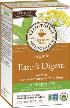 Traditional Medicinals Organic Eaters Digest Tea 20 wrapped Tea Bags, 35 g