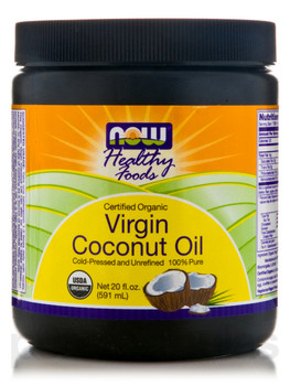 Now VIRGIN COCONUT OIL, 591 ml