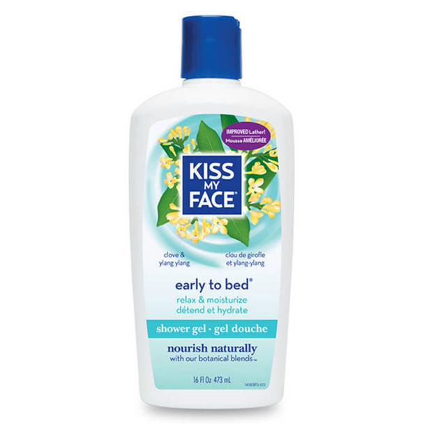 Kiss My Face, Early To Bed Shower & Bath Gel, 16 fl oz (473 ml)