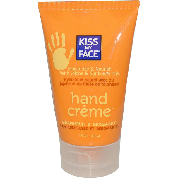 Kiss My Face, Hand CríÂme, Grapefruit & Bergamot, 4 fl oz (118 ml)