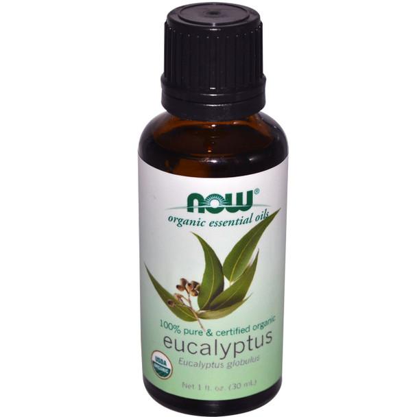 NOW Foods Organic Essential Oils Eucalyptus, 30ml