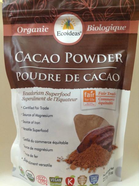 Ecoideas Cacao Powder Medium, 227 g