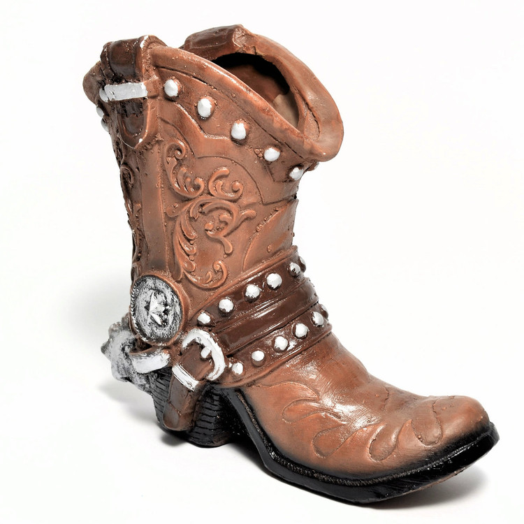 "8.75"" Brown Clay Boot for Centerpiece - One #BOOT2"