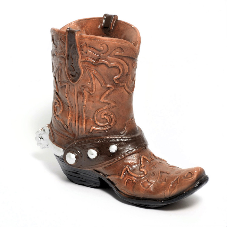 "6.25"" Brown Clay Boot for Centerpiece - One #BOOT4"