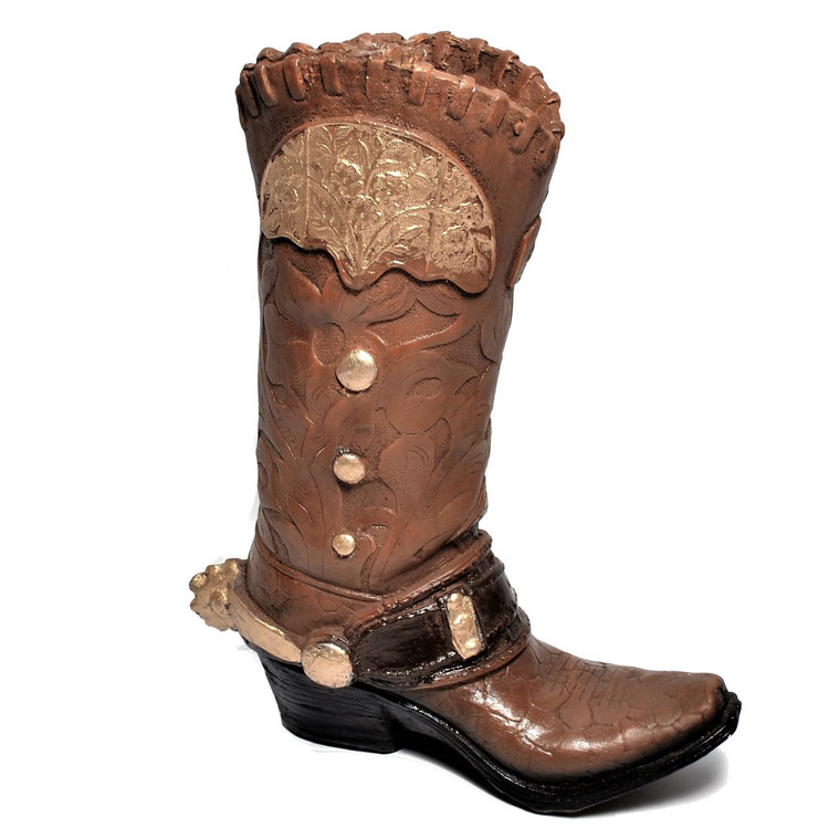 """13"""" Brown Clay Boot for Centerpiece - One #BOOT1"""