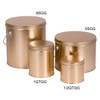 8s Gold Tall Round Tin Container Group