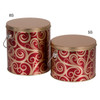 5s & 8s Golden Swirl Tall Round Tin Container