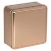 Square Gold Tin Container