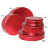 Metallic Red Cookie Tin Container Grp