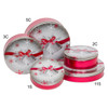 Silver Bells Cookie Tin Container Grp