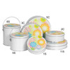 Flower Power Cookie Tin Container Grp