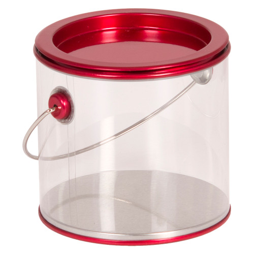Tall Clear Plastic Pail Collection