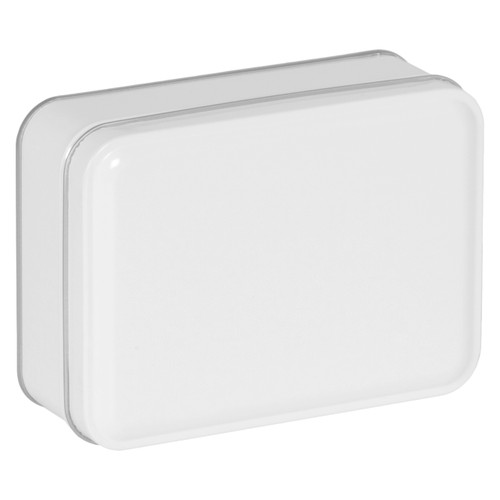 Rectangle White Tin Container