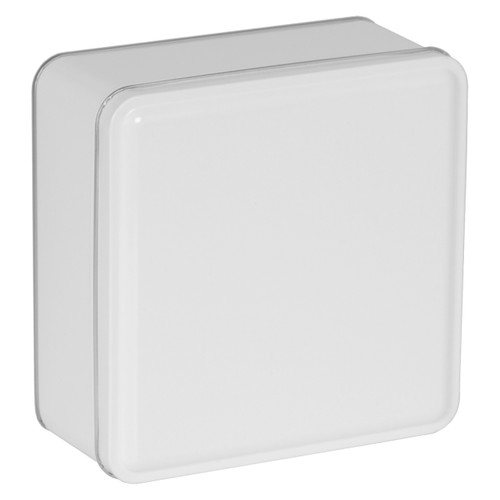 Square Solid White Tin Container