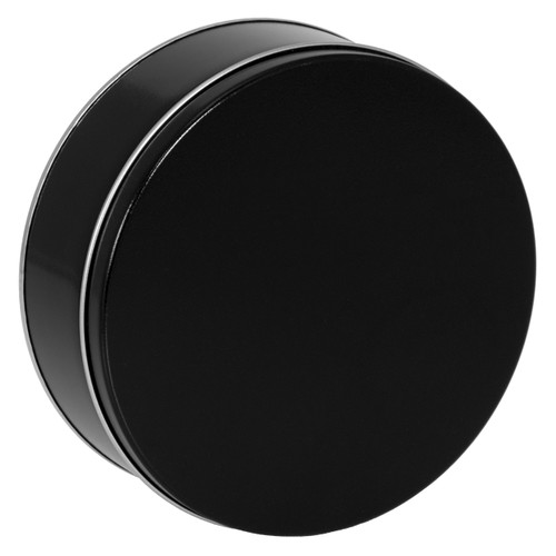 Black Cookie Tin Container