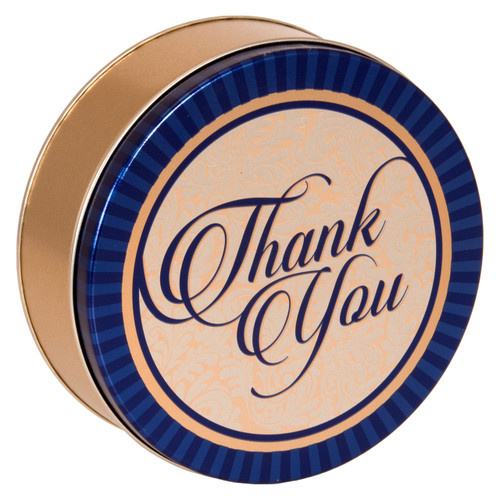 Golden Thank You Cookie Tin Container