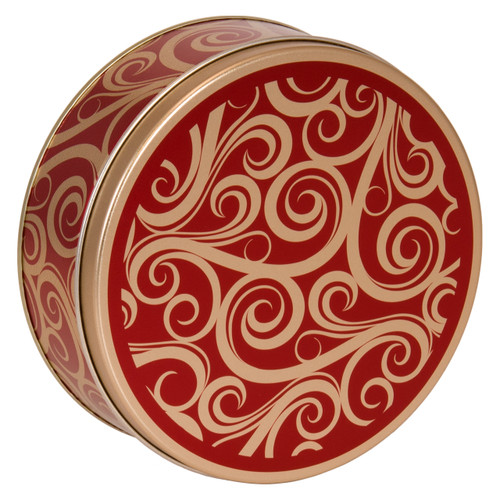 Golden Swirl Cookie Tin Container