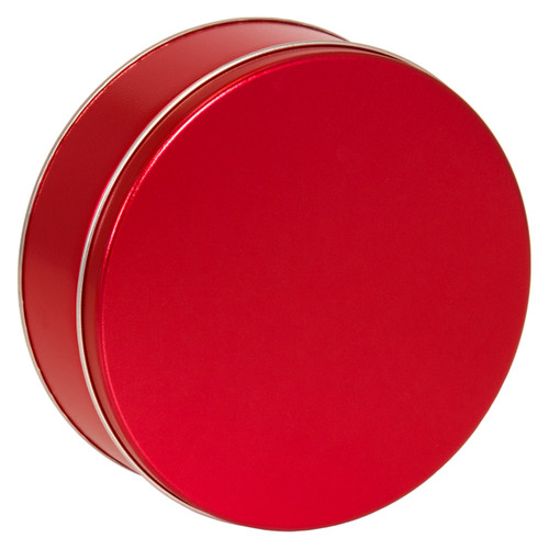 Metallic Red Cookie Tin Container