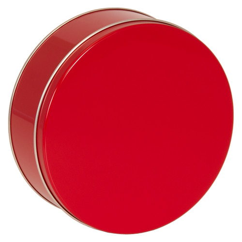 Red Cookie Tin Container