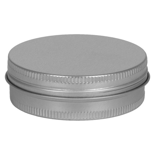 """2 9/16"""" Round Seamless Tin Container with Screw top cover"""