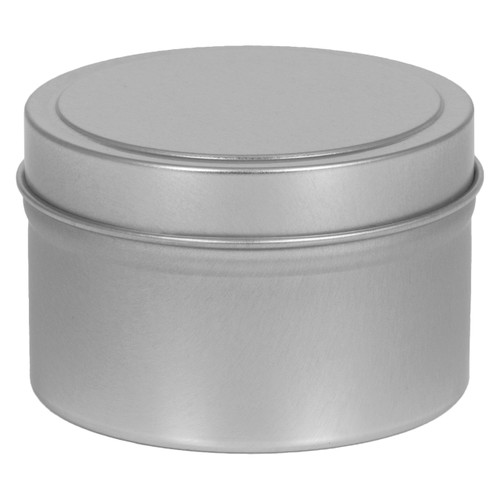 """2 13/16"""" Round Seamless Tin Container with solid or window cover"""
