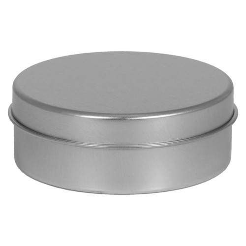 3 9/16 Round Seamless Tin Container with solid and window cover