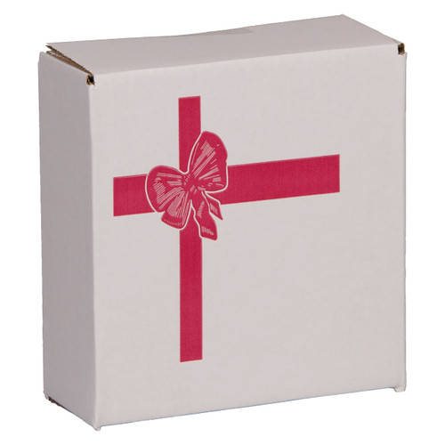 Red Bow Individual Mailing Cartons for Round Tin Containers