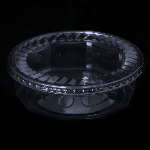 """7"""" Faceted Clear Plastic Tubs"""