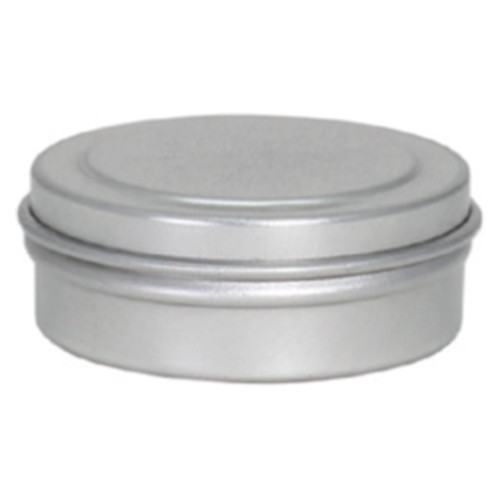 """1 5/16"""" x 7/16"""" Seamless Tin Container Platinum and Silver"""