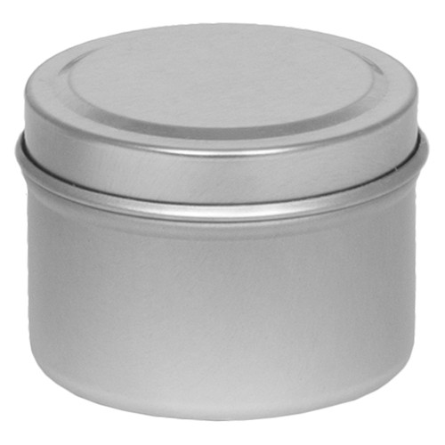 """2 1/16"""" X 1 3/8"""" Seamless Tin in Color Silver Platinum"""