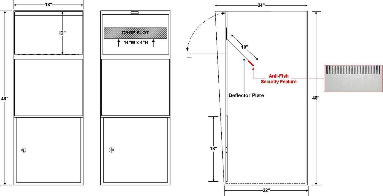 Large Parcel Drop Box Locking Parcel Drop Boxes