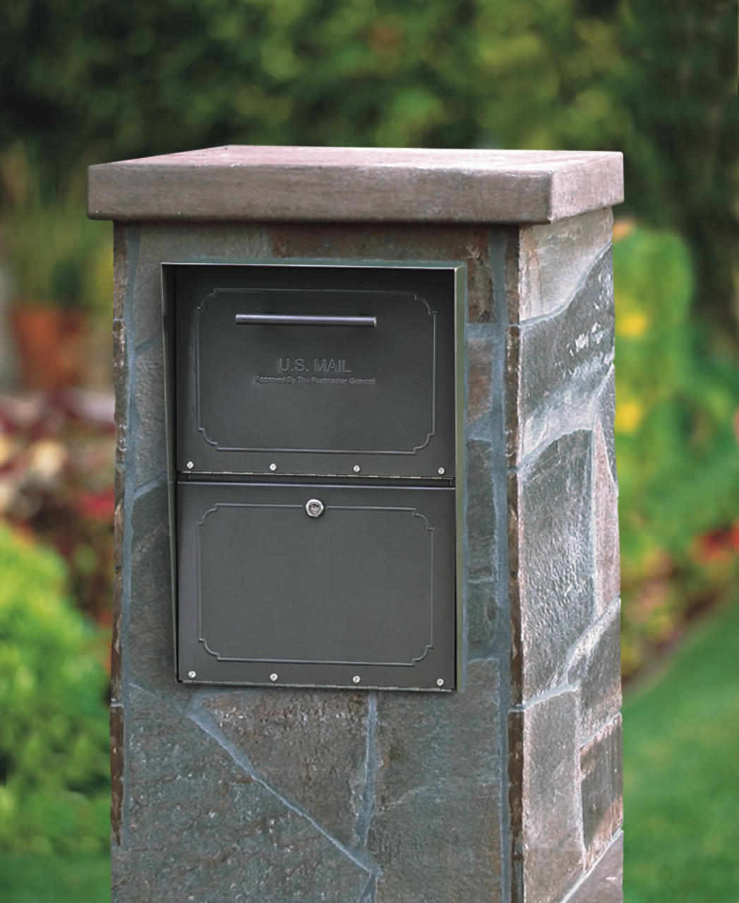 Column Locking Mailbox Brick Or Stone Enclosures Brick