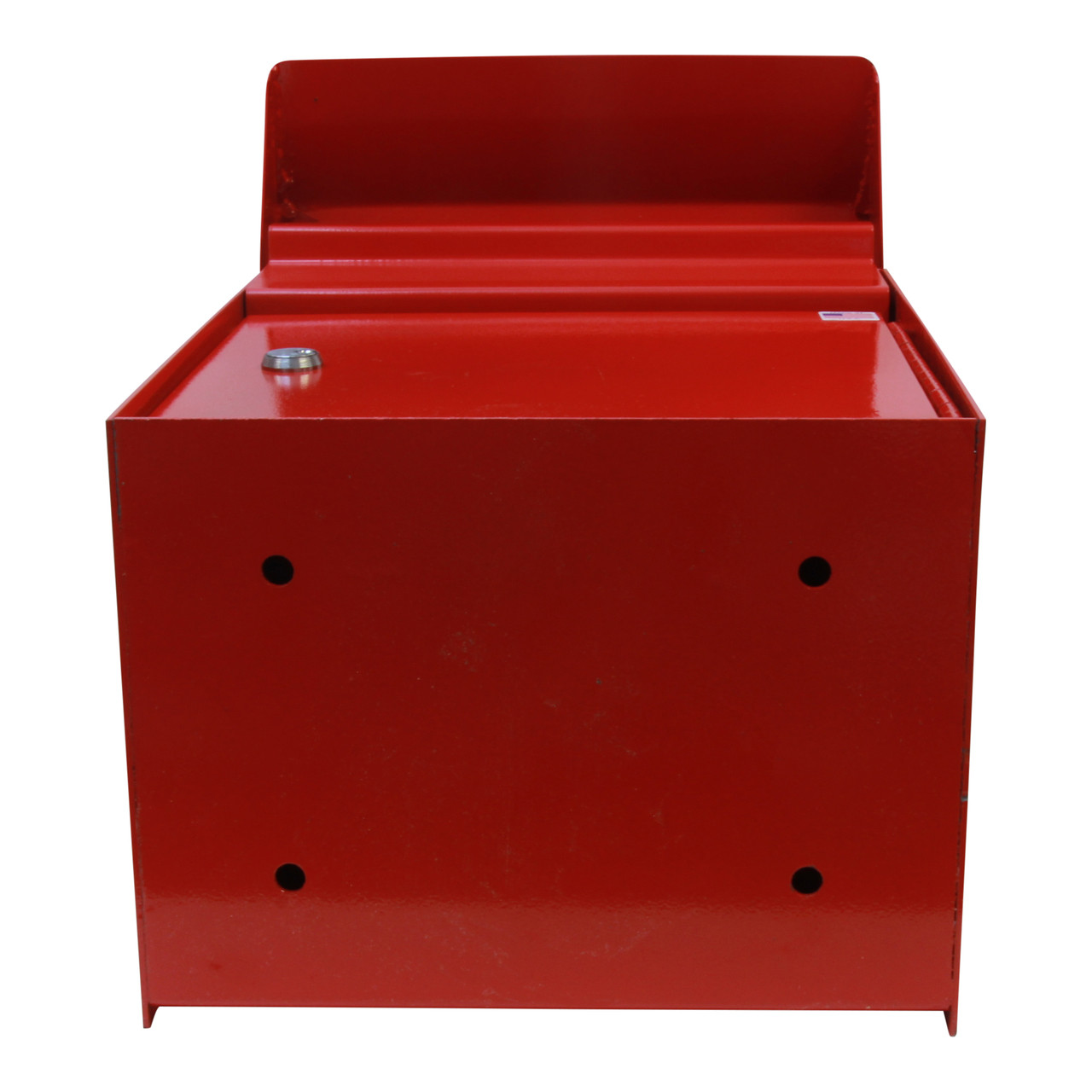 Shown with holes drilled for post mounting Outdoor Secure Payment Locking Drop Box