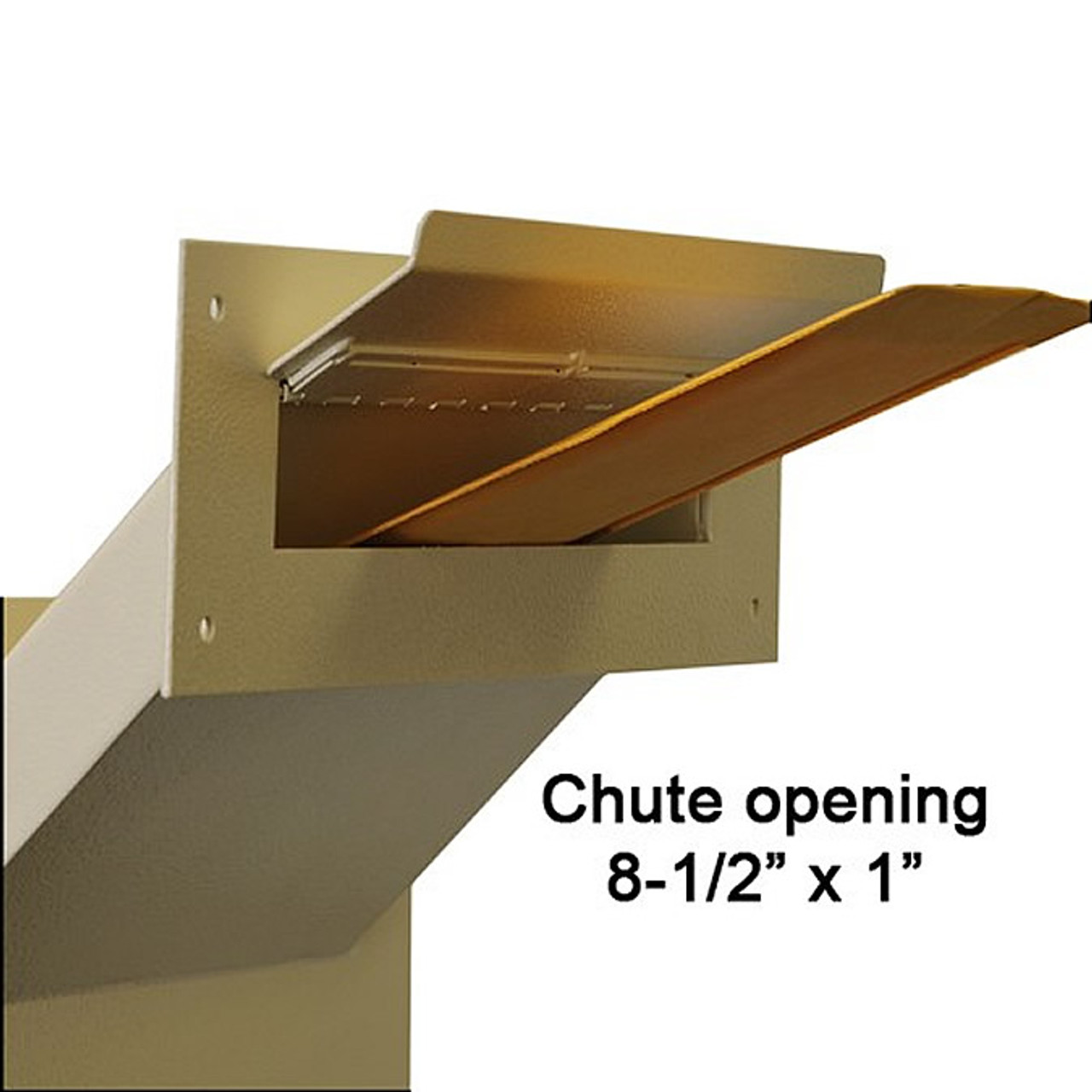Adjustable Through the Wall Locking Drop Box with drop opening and envelope