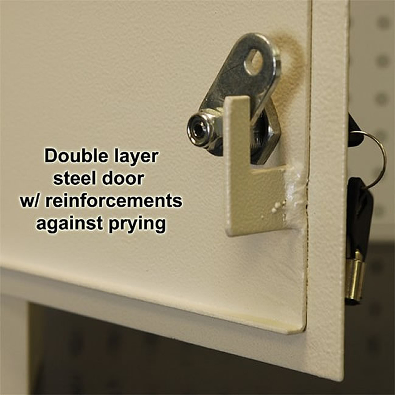 Adjustable Through the Wall Locking Drop Box secure lock
