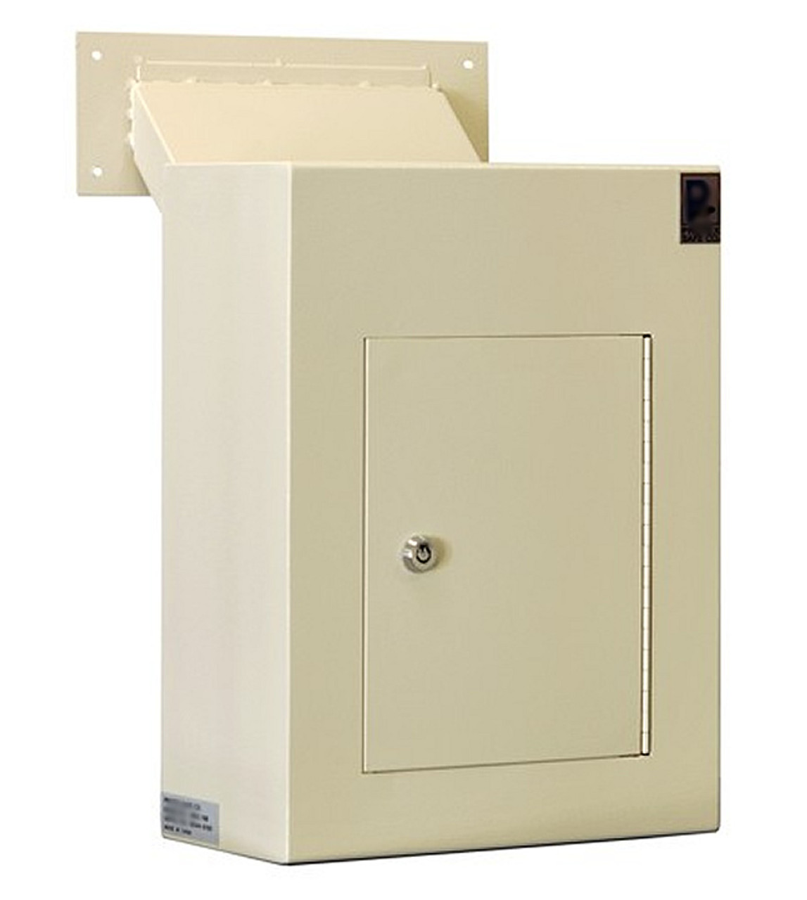 Adjustable Through the Wall Locking Drop Box key access door