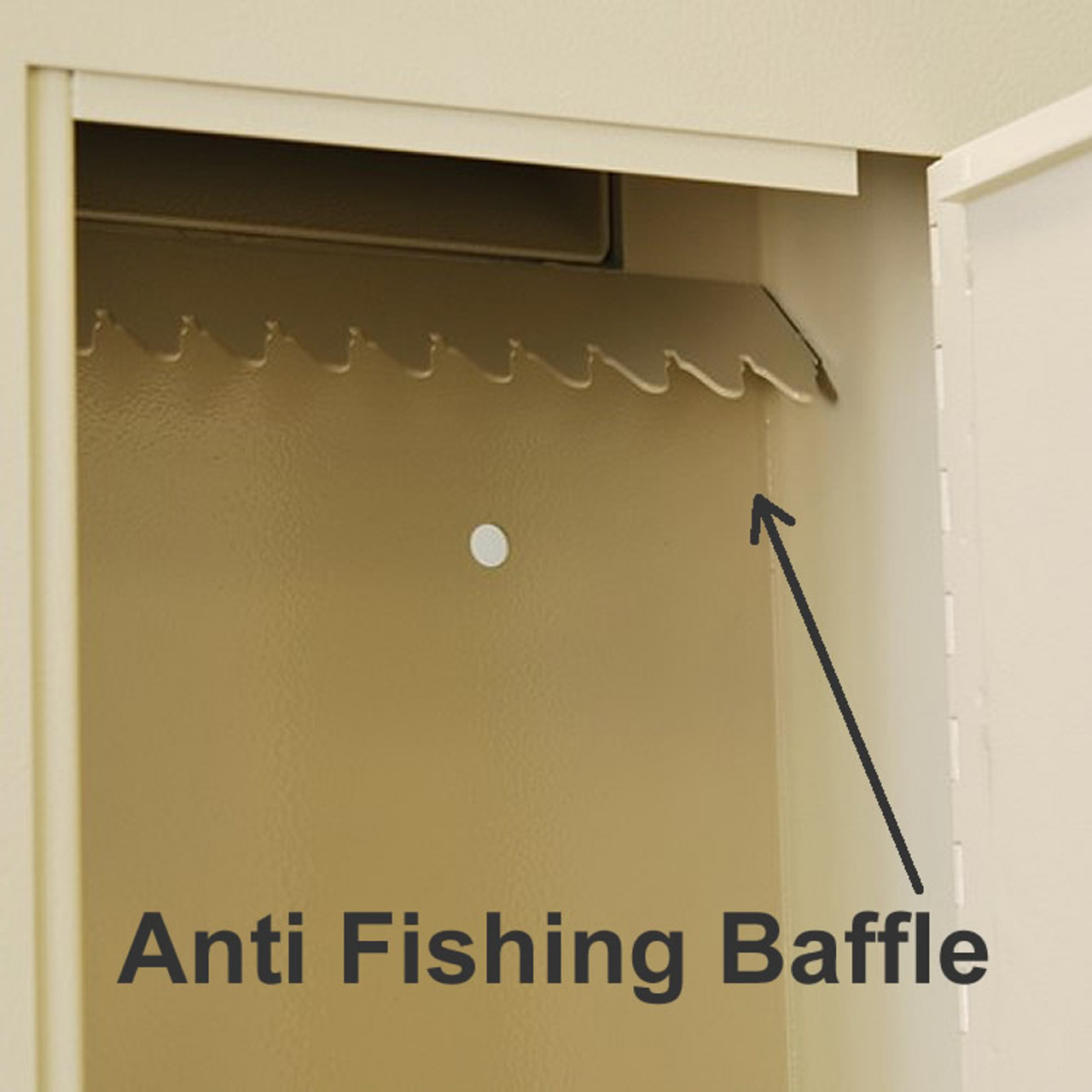 Adjustable Through the Wall Locking Drop Box anti phishing teeth
