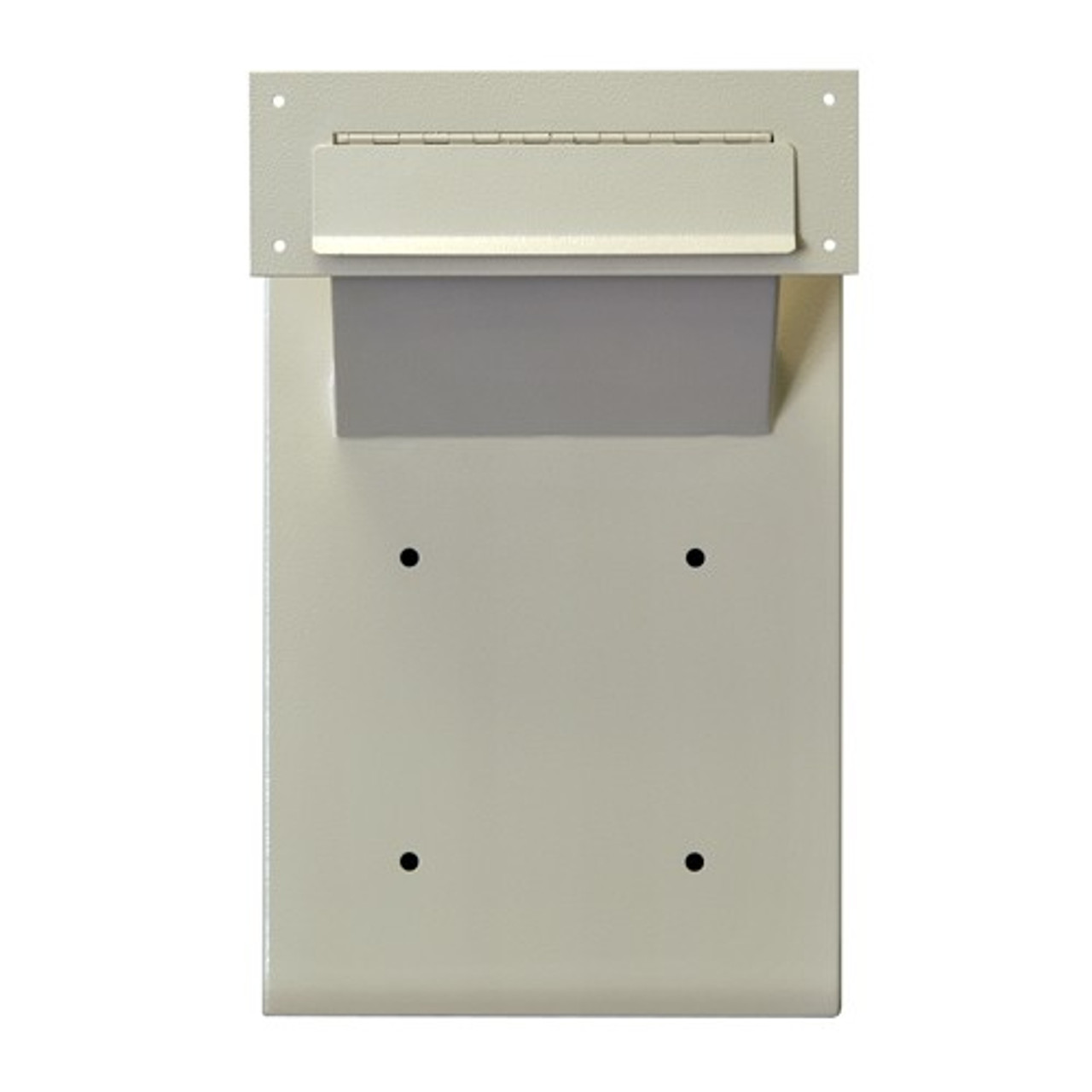 Adjustable Through the Wall Locking Drop Box  front view