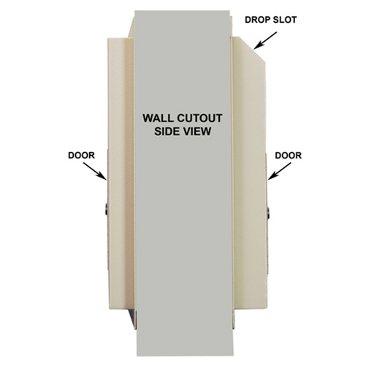 Through the Wall Drop Box with Dual Doors