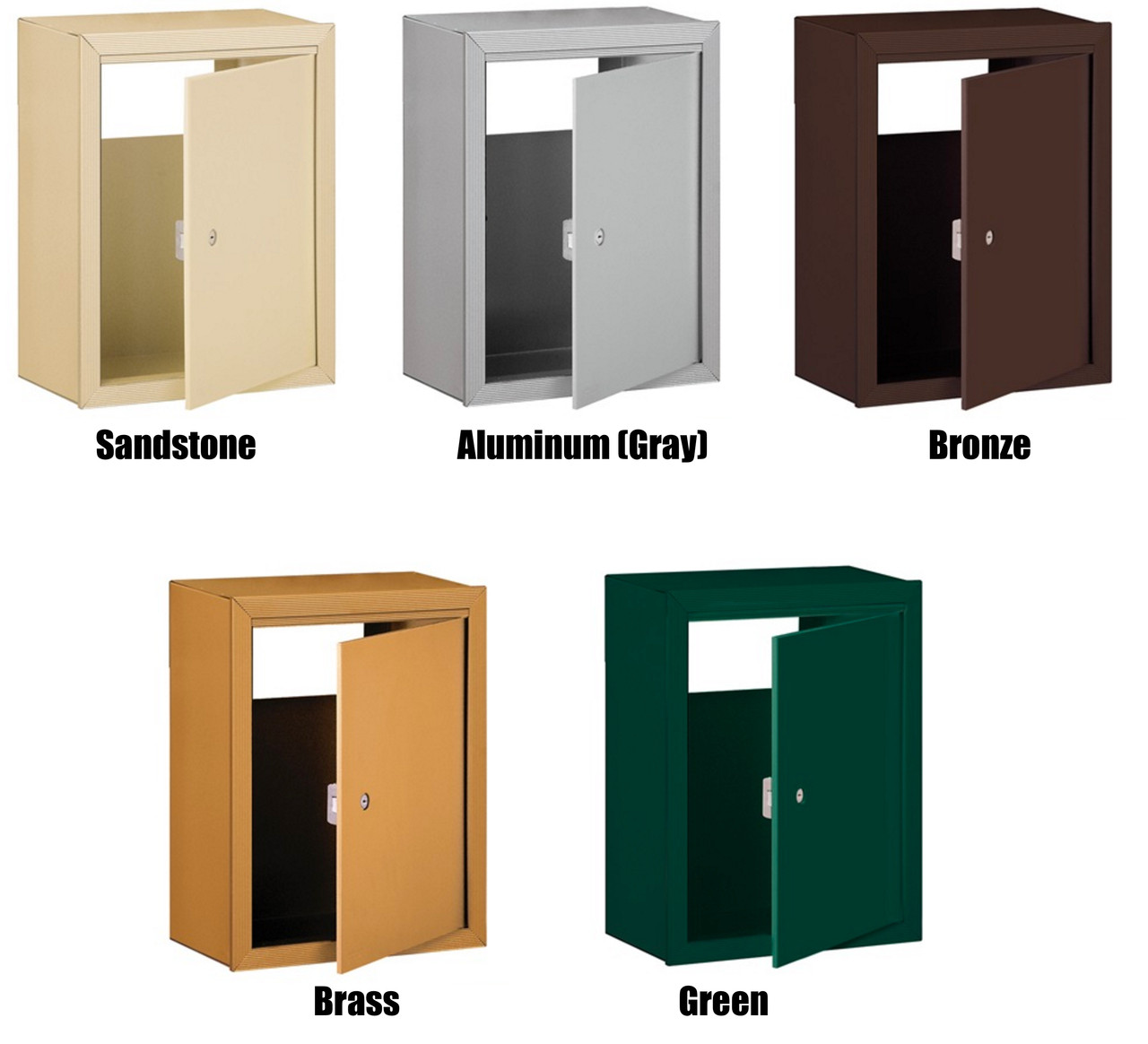 Mail Drop Slot Receptacle color options