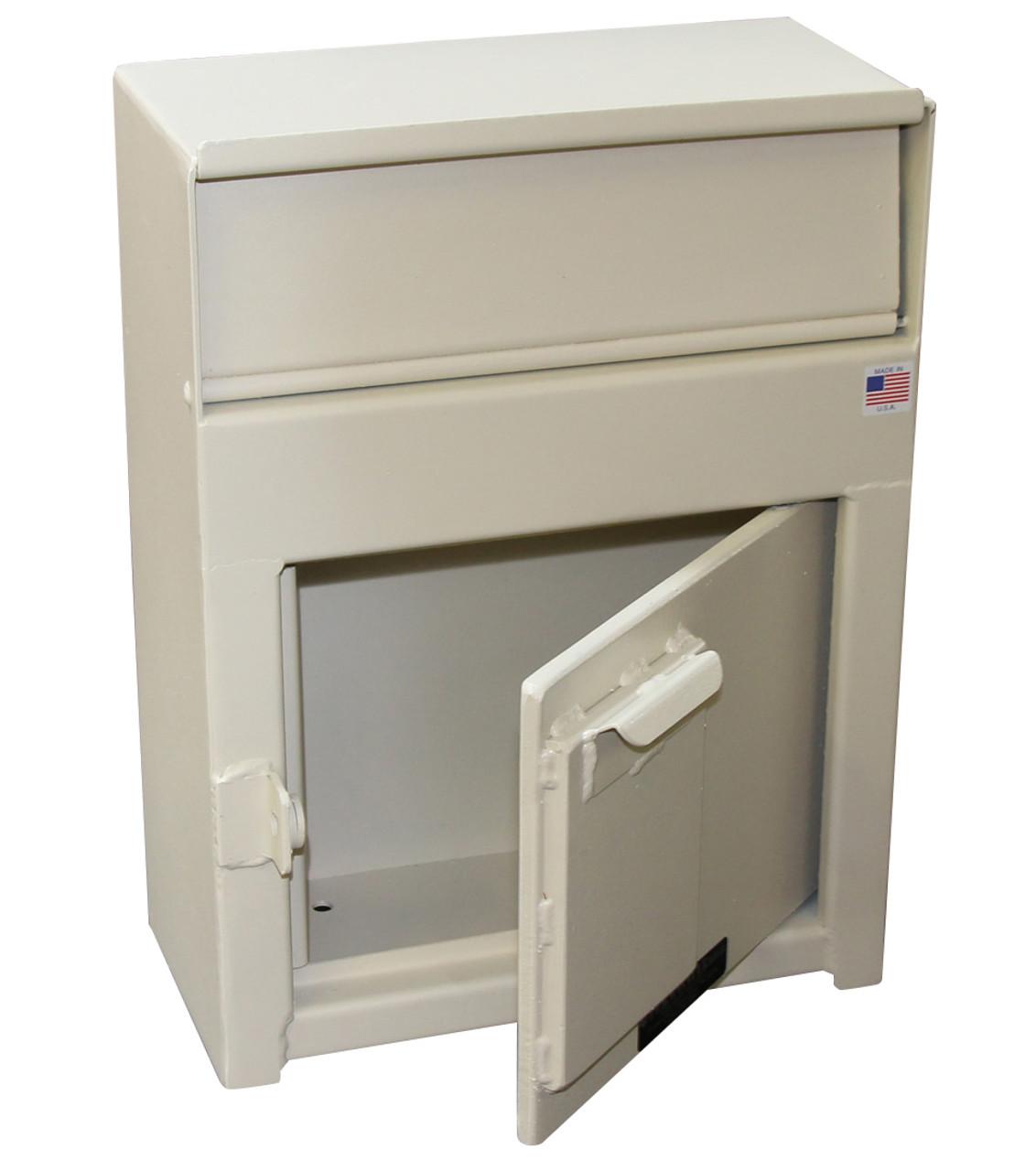 High Security Wall Mounted Payment Drop Box  door open