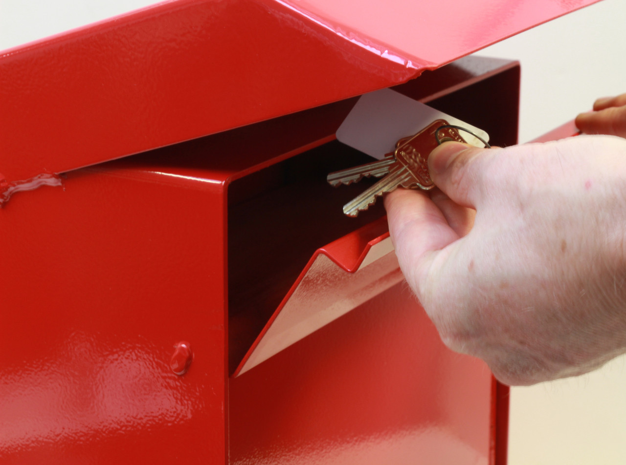 Large Outdoor Secure Payment Locking Drop Box dropping keys