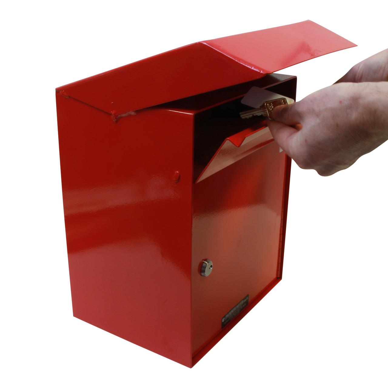 Large Outdoor Secure Payment Locking Drop Box door open
