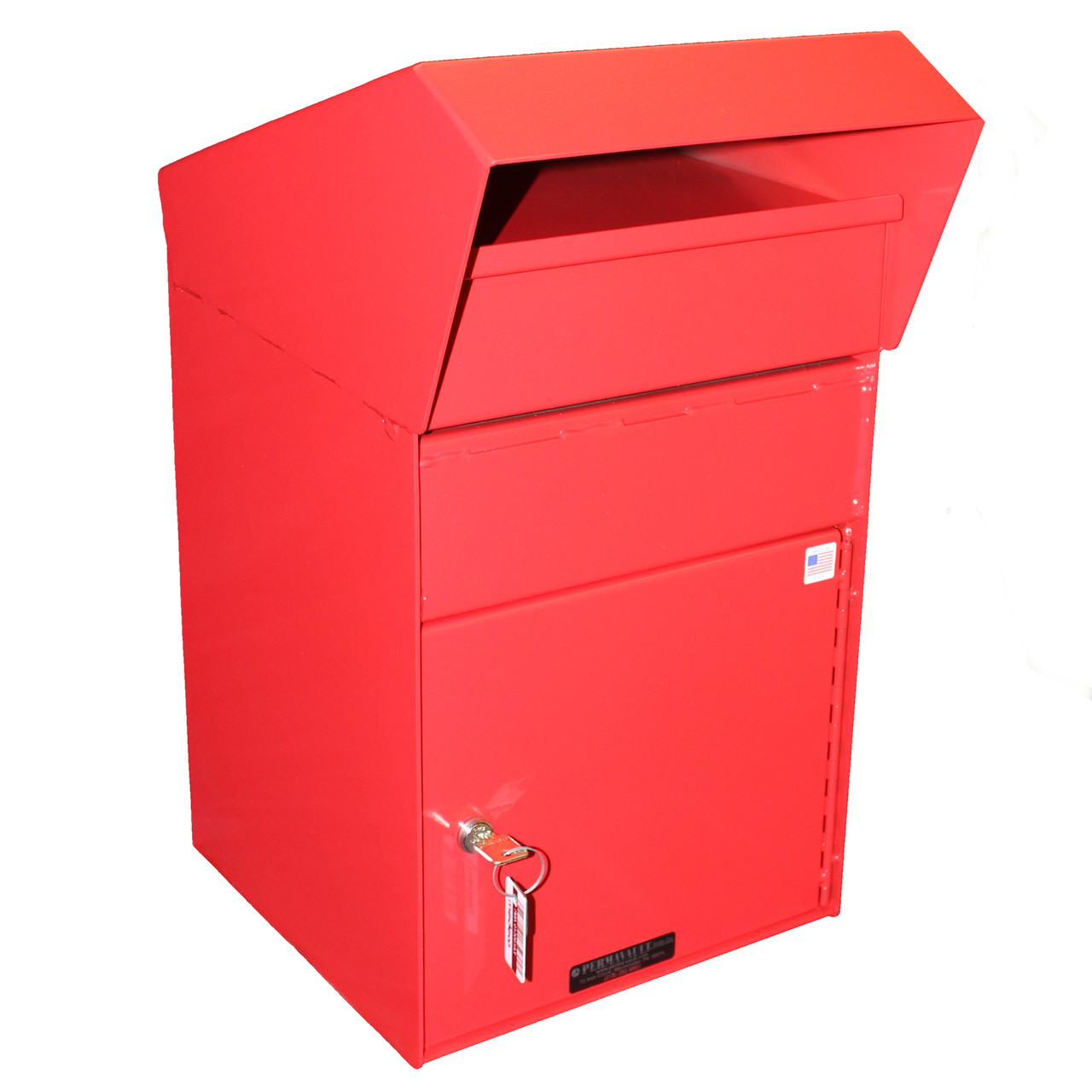 Extra Large Outdoor Secure Payment Drop Box side view