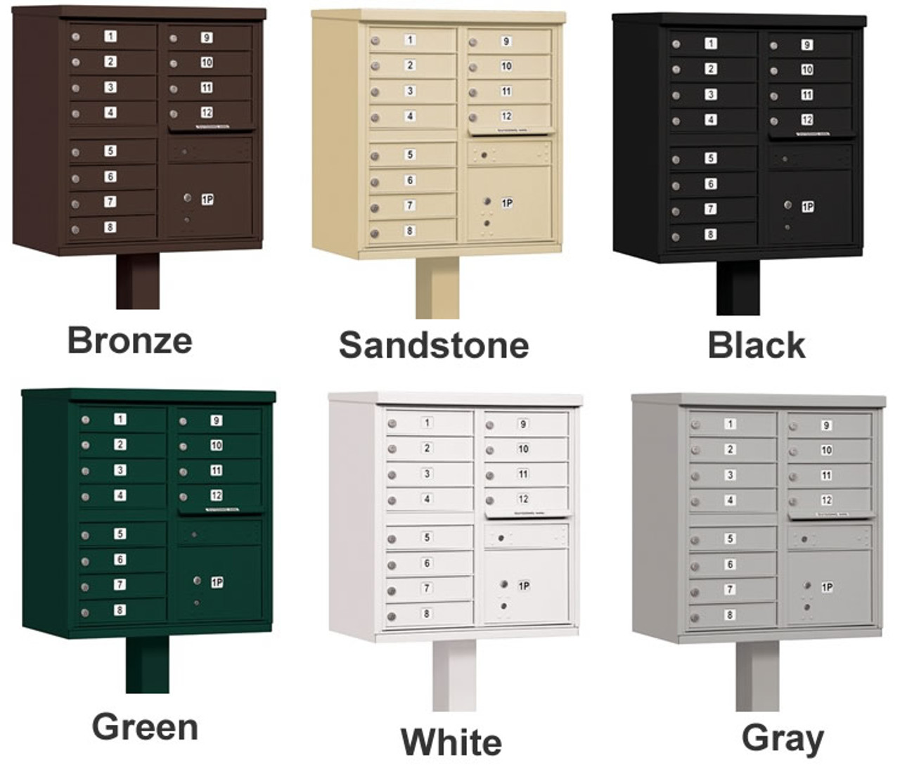 Cluster Mailbox 12 Unit Usps Approved Cbu With Pedestal
