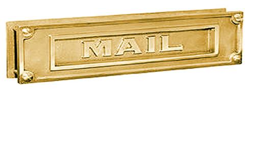 Embossed Brass Door Mail Slot