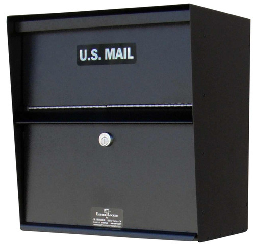 Locking Wall Mounted Mailbox - Payment Drop Box
