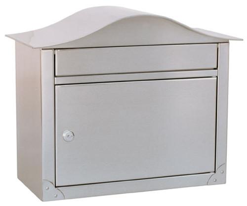 Peninsula Wall Mailbox Satin Nickel