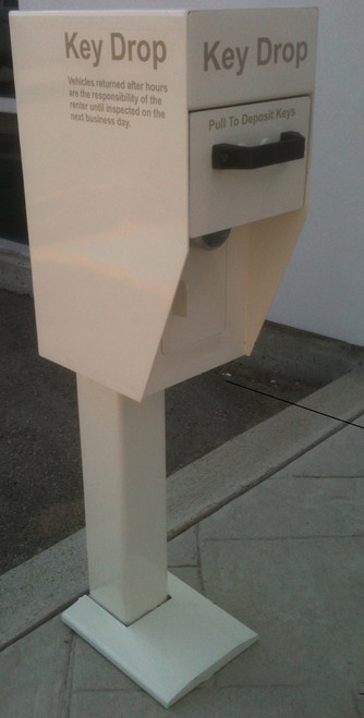 Secure Key Drop Box with Post