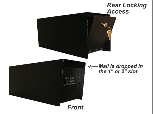 Locking Rural Mailbox with Rear Access